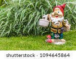 garden dwarf in home garden ...   Shutterstock . vector #1094645864