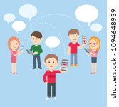 flat style young people figure...   Shutterstock .eps vector #1094648939