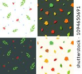 collection of summer fall... | Shutterstock .eps vector #1094650691
