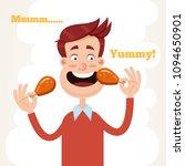 happy smiling man character... | Shutterstock .eps vector #1094650901