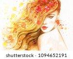 beautiful woman. fashion... | Shutterstock . vector #1094652191