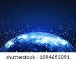 block global network... | Shutterstock .eps vector #1094653091