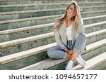 beautiful young caucasian woman ... | Shutterstock . vector #1094657177