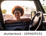 young beautiful black female... | Shutterstock . vector #1094659151
