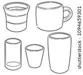 vector set of beverage cup | Shutterstock .eps vector #1094659301