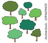 vector set of trees | Shutterstock .eps vector #1094659655