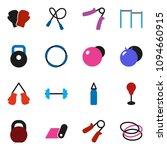 solid vector ixon set   barbell ... | Shutterstock .eps vector #1094660915