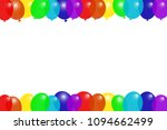 colorful flying balloons frame. ... | Shutterstock .eps vector #1094662499