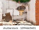damaged wall of domestic... | Shutterstock . vector #1094665601