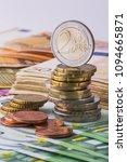 Small photo of Euro money. Euro cash background. Euro Money Banknotes.