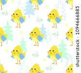 seamless pattern with small... | Shutterstock .eps vector #1094666885