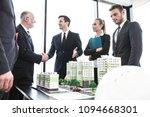 business people standing near... | Shutterstock . vector #1094668301