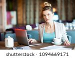 young confident businesswoman... | Shutterstock . vector #1094669171