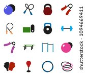 solid vector ixon set   barbell ... | Shutterstock .eps vector #1094669411