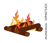 abtract nature campfire | Shutterstock .eps vector #1094671421