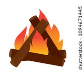 abtract nature campfire | Shutterstock .eps vector #1094671445