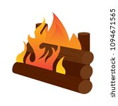 abtract nature campfire | Shutterstock .eps vector #1094671565
