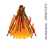 abtract nature campfire | Shutterstock .eps vector #1094671571