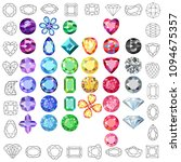 set of colored gems isolated on ...   Shutterstock . vector #1094675357