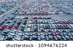 aerial top view new car lined... | Shutterstock . vector #1094676224