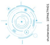 mechanical engineering drawings.... | Shutterstock .eps vector #1094679401