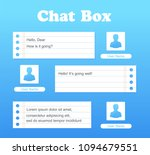 vector chat interface in blue...