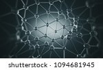 chaotic connecting structure... | Shutterstock . vector #1094681945
