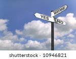 concept image of a signpost... | Shutterstock . vector #10946821