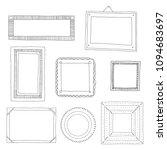 decorative set template photo... | Shutterstock .eps vector #1094683697