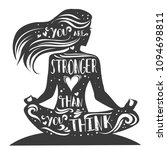 you are stronger than you think.... | Shutterstock .eps vector #1094698811