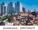 contrast between the modern... | Shutterstock . vector #1094704679