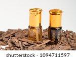 bottle of oil agarwood tree...   Shutterstock . vector #1094711597