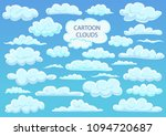 cartoon clouds. big set...