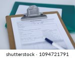 medication history record and a ... | Shutterstock . vector #1094721791