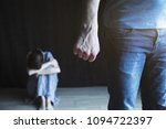 scared woman protecting from... | Shutterstock . vector #1094722397