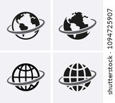 globe icons set. vector global... | Shutterstock .eps vector #1094725907