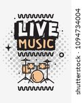live music in the concert... | Shutterstock .eps vector #1094734004