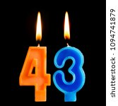 burning birthday candles in the ... | Shutterstock . vector #1094741879
