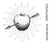 vector illustration of an apple ... | Shutterstock .eps vector #1094742521