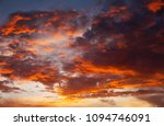 fiery  orange and red colors... | Shutterstock . vector #1094746091