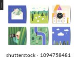 simple things   cards   flat... | Shutterstock .eps vector #1094758481