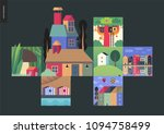 simple things   houses   flat... | Shutterstock .eps vector #1094758499