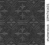 metal seamless texture with... | Shutterstock . vector #1094761631