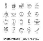 healthy food vector icons set....   Shutterstock .eps vector #1094761967