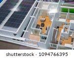 sample solar home.   Shutterstock . vector #1094766395