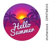 """label with """"hello summer""""... 