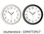 realistic wall clock set with...   Shutterstock .eps vector #1094772917