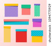 set of multicolored  colourful... | Shutterstock .eps vector #1094775929