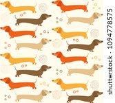 dachshound seamless pattern  ... | Shutterstock .eps vector #1094778575