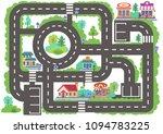 children board game city road.... | Shutterstock .eps vector #1094783225
